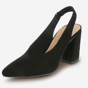 Christian Siriano Palmer black heels slingback 6.5